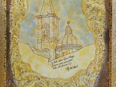 quadro opera pittorica l'arte e l'amore Alessia Pignatelli