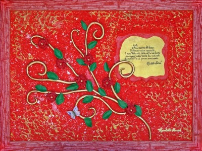 quadro opera pittorica il ramo della vita Alessia Pignatelli