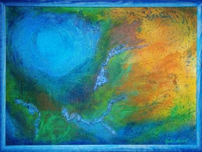 quadro astratto la pace dell'io Alessia Pignatelli