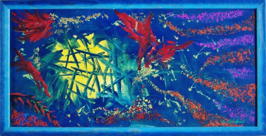 quadro opera pittorica l'allegria nella gioia Alessia Pignatelli