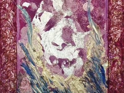 quadro opera pittorica oro nel vento Pignatelli Alessia