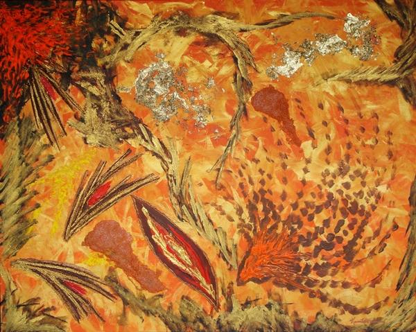 quadro opera pittorica piccante calore Alessia Pignatelli