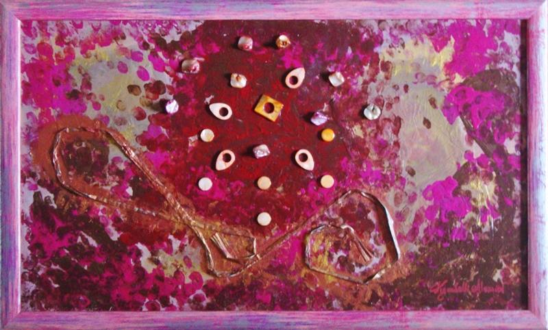 quadro opera pittorica profumo d'India Alessia Pignatelli